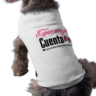 Esperanza Cueta - Cancer De Mama Doggie Tee Shirt
