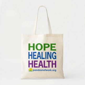 Esperanza, curando, color Bolso-Lleno de la salud Bolsa Tela Barata