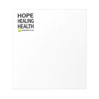Esperanza, curando, libreta de la salud libreta para notas