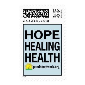 Esperanza, curando, sello de la salud
