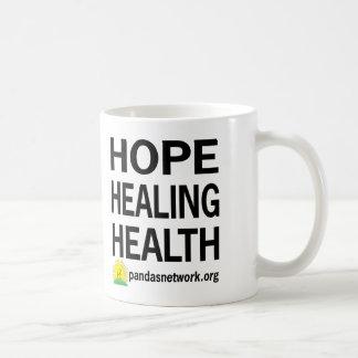 Esperanza, curando, taza de la salud