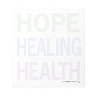 Esperanza, curando, texto Libreta-Lleno del color  Blocs De Notas