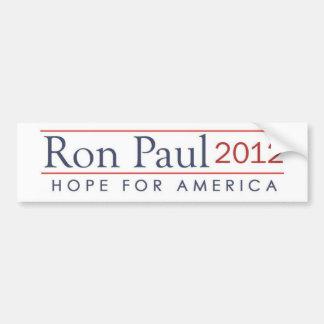 esperanza de América Ron Paul 2012 Pegatina Para Auto
