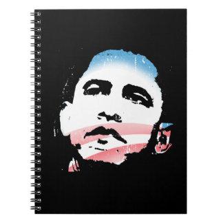 Esperanza de Barack Obama de la luz del cambio Libro De Apuntes Con Espiral