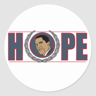 Esperanza de Barack Obama Pegatina Redonda