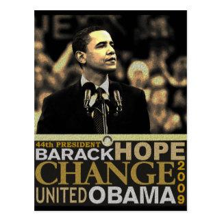 Esperanza de Barack Obama Tarjetas Postales