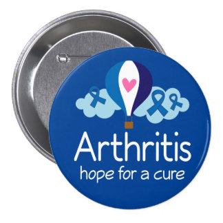 Esperanza de la artritis de un botón de la pin redondo de 3 pulgadas