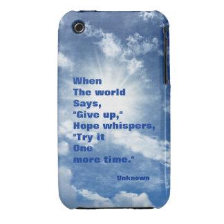 Esperanza de la cita y diseño del cielo azul de la iPhone 3 fundas