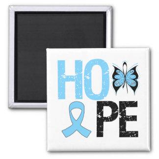 Esperanza de la conciencia del cáncer de próstata imán cuadrado