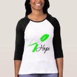 Esperanza de la conciencia del linfoma camiseta