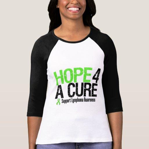 Esperanza de la conciencia del linfoma de una cura camisetas