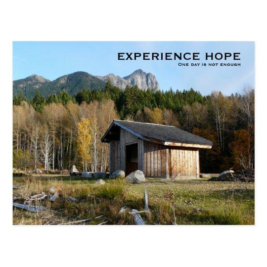 Esperanza de la experiencia - pequeña ciudad en postal