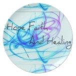 Esperanza de la fe y cura plato de comida