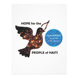 Esperanza de la población de Haití - posibilidades Tarjeton