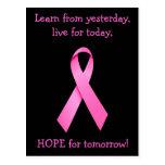 Esperanza de la postal de la conciencia del cáncer