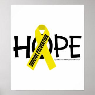 Esperanza de la prevención del suicidio poster
