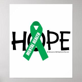 Esperanza de la salud mental póster