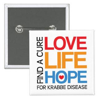 Esperanza de la vida del amor - enfermedad del kra pin cuadrada 5 cm