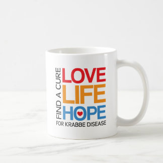 Esperanza de la vida del amor - enfermedad del kra taza de café