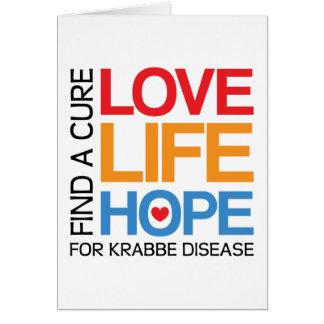 Esperanza de la vida del amor - enfermedad del tarjeta de felicitación