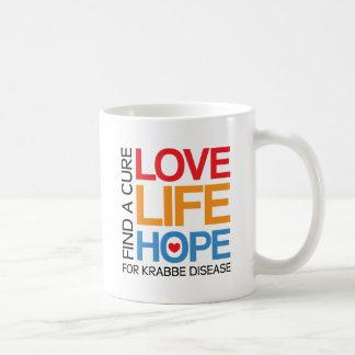 Esperanza de la vida del amor - enfermedad del taza básica blanca