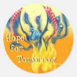 Esperanza de mañana pegatinas redondas
