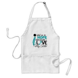 Esperanza de mi cáncer de cuello del útero de la h delantal