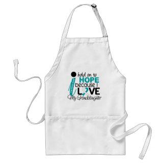 Esperanza de mi cáncer de cuello del útero de la n delantal