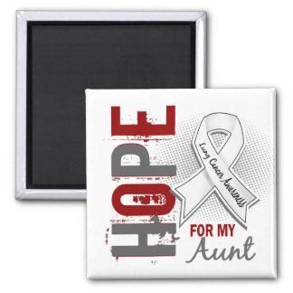 Esperanza de mi cáncer de la tía pulmón imán cuadrado
