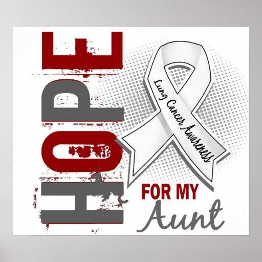 Esperanza de mi cáncer de la tía pulmón impresiones