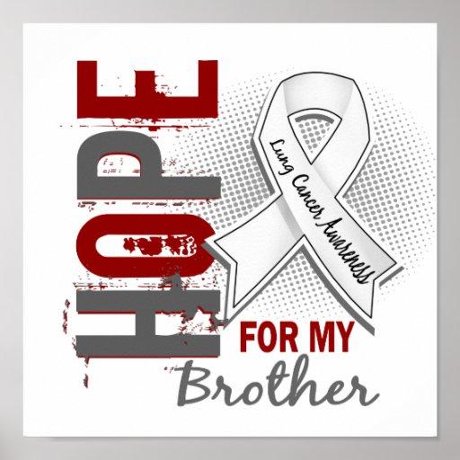 Esperanza de mi cáncer de pulmón de Brother Impresiones