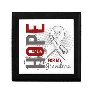 Esperanza de mi cáncer de pulmón de la abuela caja de joyas