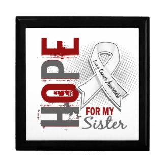 Esperanza de mi cáncer de pulmón de la hermana cajas de recuerdo