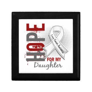 Esperanza de mi cáncer de pulmón de la hija caja de joyas