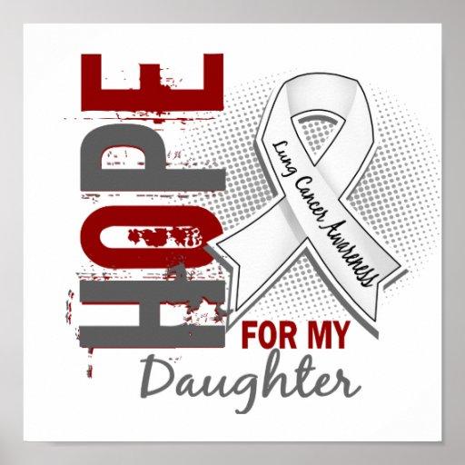 Esperanza de mi cáncer de pulmón de la hija impresiones