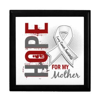 Esperanza de mi cáncer de pulmón de la madre caja de recuerdo