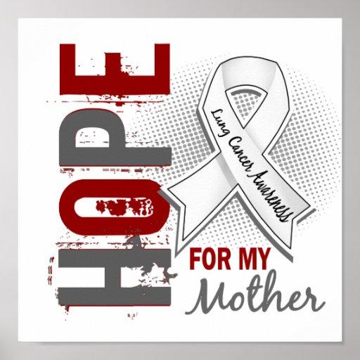 Esperanza de mi cáncer de pulmón de la madre impresiones