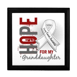 Esperanza de mi cáncer de pulmón de la nieta cajas de recuerdo
