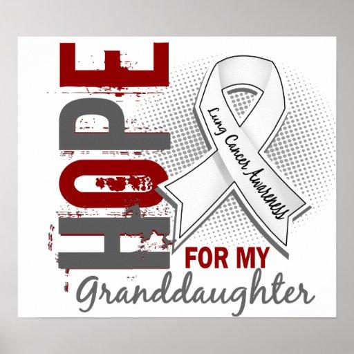 Esperanza de mi cáncer de pulmón de la nieta poster