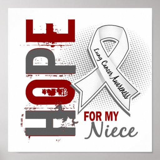 Esperanza de mi cáncer de pulmón de la sobrina posters