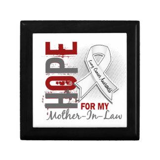 Esperanza de mi cáncer de pulmón de la suegra caja de regalo