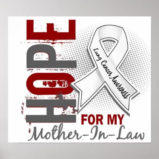 Esperanza de mi cáncer de pulmón de la suegra posters