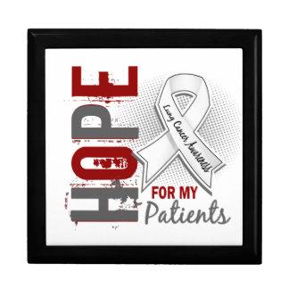 Esperanza de mi cáncer de pulmón de los pacientes caja de regalo