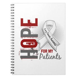 Esperanza de mi cáncer de pulmón de los pacientes libros de apuntes