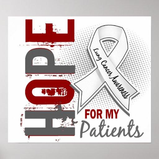 Esperanza de mi cáncer de pulmón de los pacientes poster