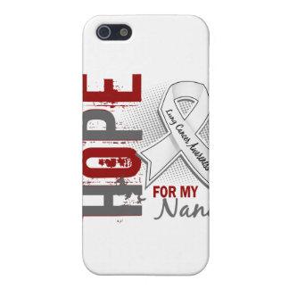 Esperanza de mi cáncer de pulmón de Nana iPhone 5 Cárcasa