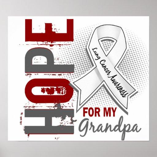 Esperanza de mi cáncer de pulmón del abuelo posters