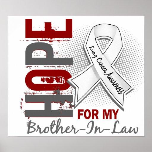 Esperanza de mi cáncer de pulmón del cuñado posters