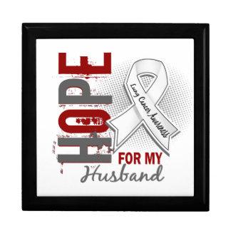 Esperanza de mi cáncer de pulmón del marido caja de regalo
