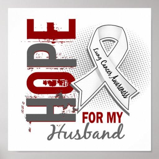 Esperanza de mi cáncer de pulmón del marido posters